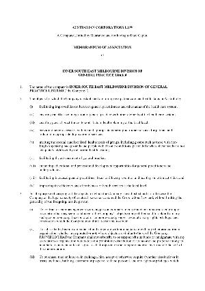 Cyprus Memorandum and Articles of Association