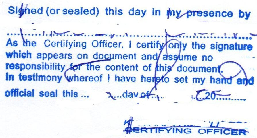 Seal of Notary public / Certifyng officer Cyprus