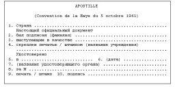 Example Apostille Russia