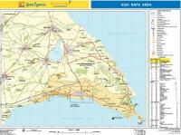 High quality map of Agia Napa, Protaras and Paralimni pdf