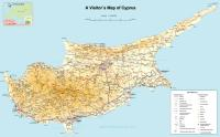 High quality map of Cyprus