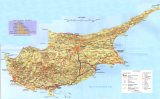 Map of Cyprus topography