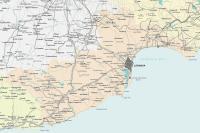 Map of Larnaca region