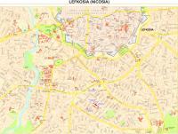 High quality map of Nicosia center pdf