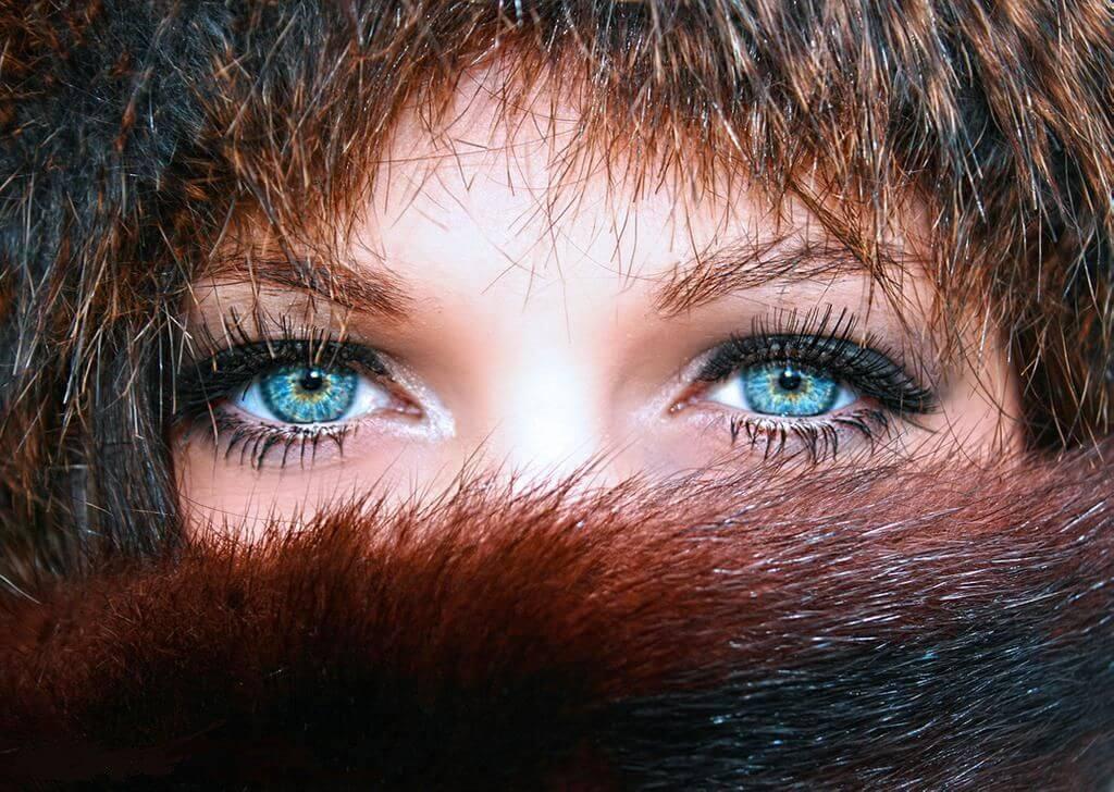 Russian woman eyes