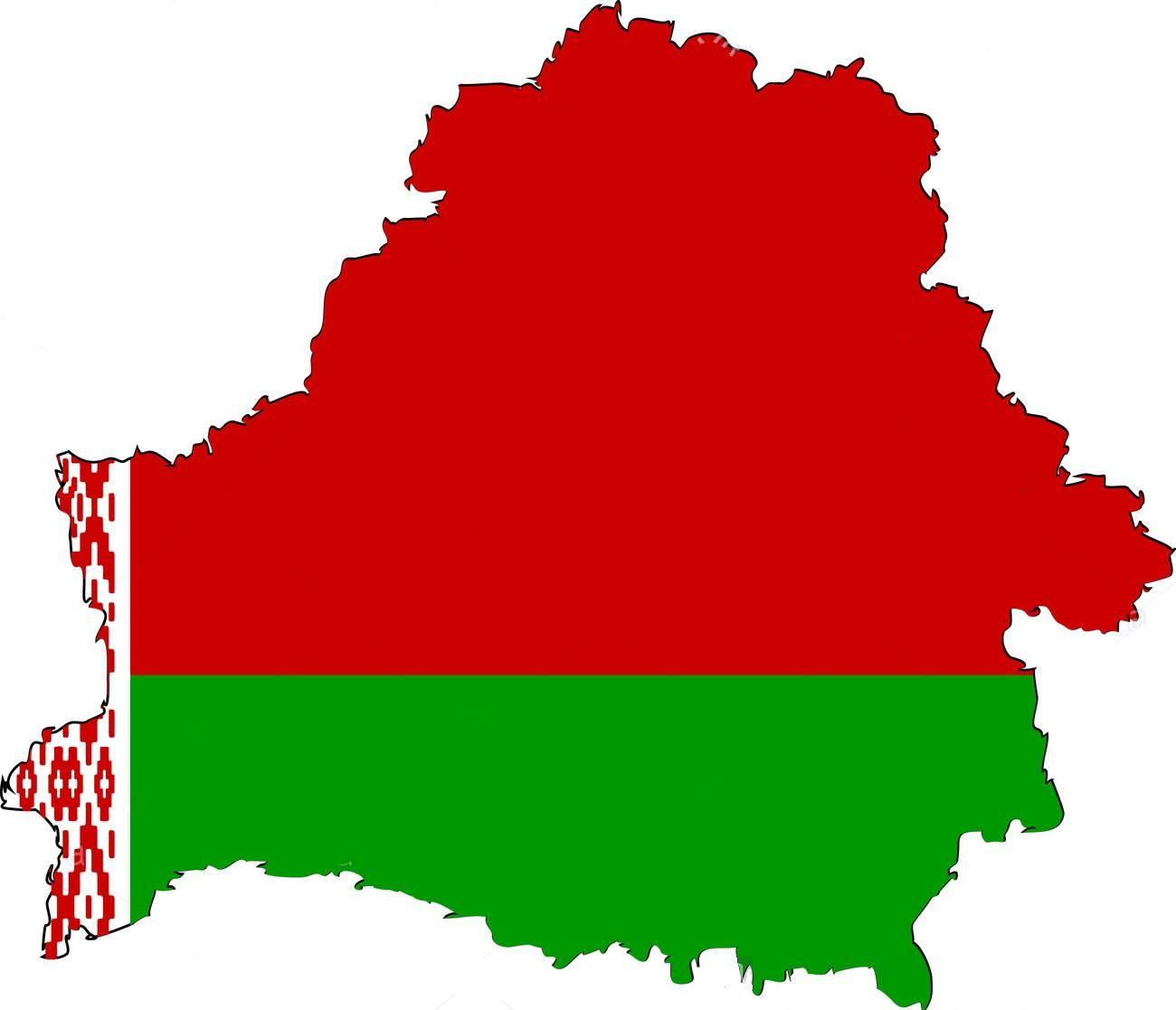 Belarus flag map