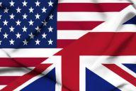 Флаг США и Великобритании вместе