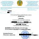 Справка о наличии либо отсутствии судимости Казахстана