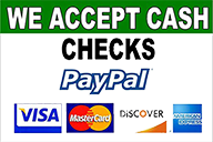 we accept all payment methods