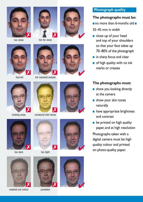 requirements for photo for passport Photograph quality