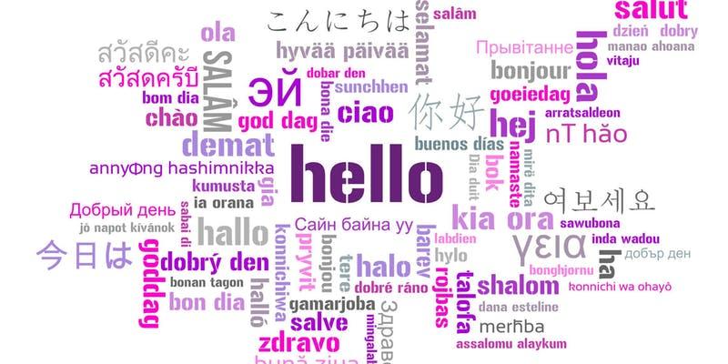 Привет разные языки