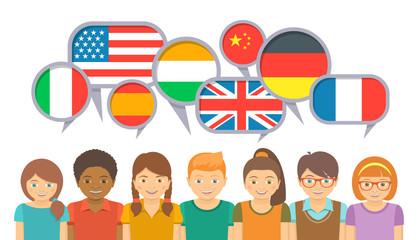 Люди разные языки